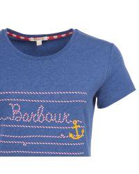 Barbour Blue Ebb Tide Rope Print T-shirt