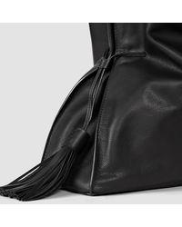 AllSaints Black Freedom Hobo Slouchy Bag