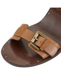 See By Chloé Brown Romy Block Heeled Buckle Sandals