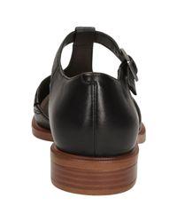 Clarks Black Taylor Palm Leather Court Shoes