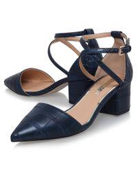 Miss Kg Blue Ava Cross Strap Court Shoes