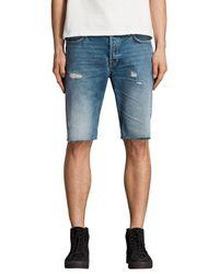 AllSaints Blue Ipava Switch Shorts for men