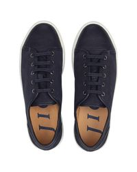 Jigsaw Blue Ayda Flat Trainers for men