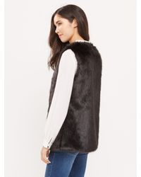 Oasis Black Faux Fur Gilet