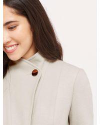 Oasis Multicolor Phillipa Funnel Neck Coat