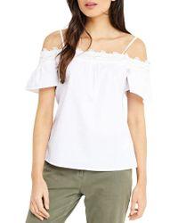 Oasis White Lace Trim Cotton Cami