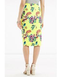 Oasis Multicolor Tropical Pencil Skirt