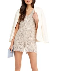 Oasis White Lace Playsuit