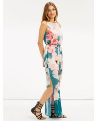 Oasis Multicolor Digital Floral Maxi Dress