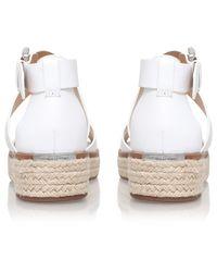 MICHAEL Michael Kors White Darby Flatform Sandals