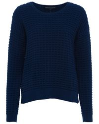 French Connection Blue Mozart Popcorn Jumper