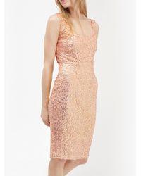 French Connection Multicolor Celia Sequin Scoop Neck Dress