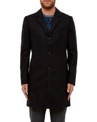 Ted Baker Black Jackson Mini Design Overcoat for men