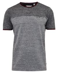 Ted Baker Gray T For Tall Bikett Mouline T-shirt for men