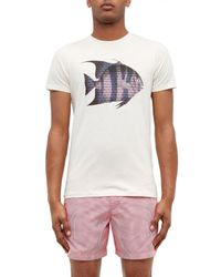 Ted Baker   White Caspic Fish Print Cotton T-shirt for Men   Lyst