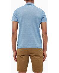 Ted Baker Blue Utah Jacquard Polo Shirt for men