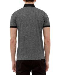 Ted Baker Gray Bobbie Herringbone Polo Shirt for men