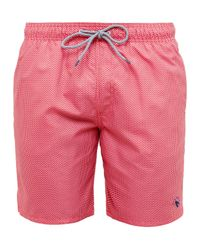 Ted Baker Pink Trigeo Geo Print Swim Shorts for men