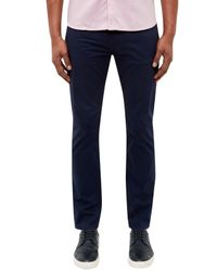 Ted Baker | Blue Curly Stretch Cotton Trousers for Men | Lyst