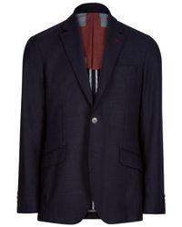 Hackett Blue Union Jack Blazer for men