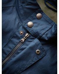 Hackett Blue Velospeed Water-repellent Cotton Coat for men