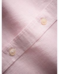 Hackett Pink Plain Melange Slim Fit Shirt for men