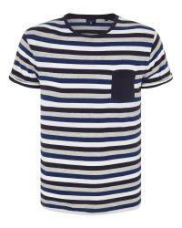GANT Blue Stripe Pocket T-shirt for men