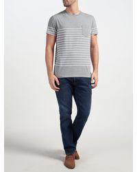 Gant Gray Breton Stripe T-shirt for men