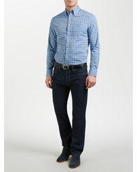 Gant Blue Lobby Oxford Gingham Shirt for men