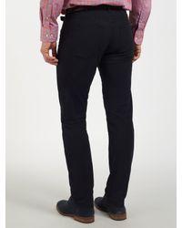 GANT Blue Micro Twill Regular Straight Trousers for men