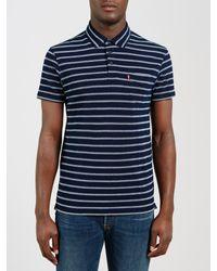 Levi's Blue Sunset Tonal Pocket Polo Shirt for men