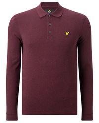 Lyle & Scott - Purple Long Sleeve Polo Shirt for Men - Lyst