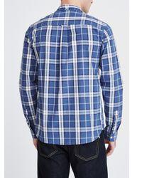 Lyle & Scott Blue Check Shirt for men