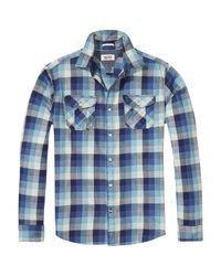 Hilfiger Denim Blue Check Shirt for men