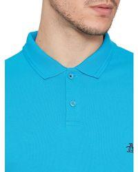 Original Penguin Blue Winston Short Sleeve Polo Shirt for men