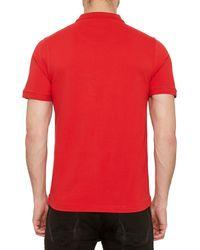 Original Penguin Red Winston Pique Polo Shirt for men