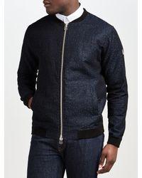 Libertine-Libertine Blue Fever Cotton Linen Bomber Jacket for men