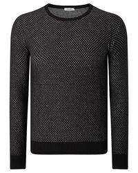J.Lindeberg Black Marc Mouliné Cotton Knit Jumper for men