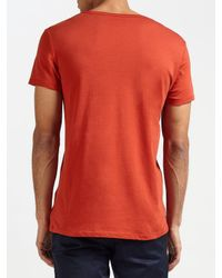 J.Lindeberg Red Cody Cotton T-shirt for men