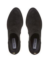 Steve Madden Black Tinker Block Heeled Ankle Boots