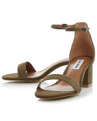 Steve Madden Pink Irenee Two Part Block Heeled Sandals