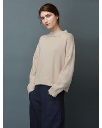 Toast - Natural Wool Cotton Easy Jumper - Lyst