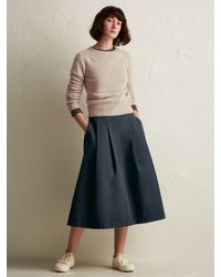 Toast Blue Cotton Twill Skirt