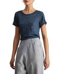 Toast Blue Short Sleeve Linen T-shirt