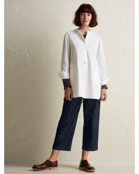 Toast White Cotton Poplin Long Shirt