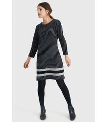 Joules Black Marie Stripe Jersey Dress