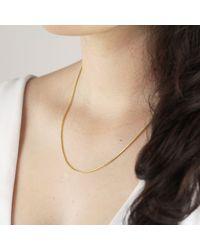 Ib&b 18ct Yellow Gold Spiga Chain Necklace