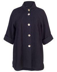 John Lewis Blue Chesca Textured Jacquard Coat