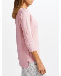 John Lewis - Pink Henley Pyjama Top - Lyst