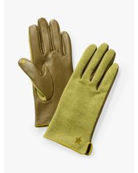 White Stuff Green Lucy Leather Gloves